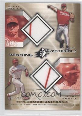 2002 SPx Winning Materials Combo Jerseys #WM-RA - Scott Rolen, Bobby Abreu