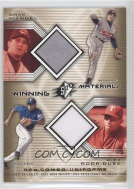 2002 SPx Winning Materials Combo Jerseys #WM-VR - Alex Rodriguez, Omar Vizquel