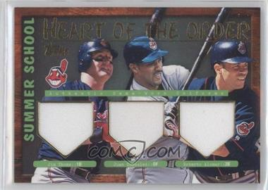2002 Topps - Summer School Relics - Heart of the Order #HTO-TGA - Jim Thome, Juan Gonzalez, Roberto Alomar