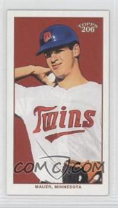 2002 Topps 206 - [Base] - Mini Blue Sweet Caporal Back #400 - Joe Mauer