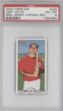 2002 Topps 206 - [Base] - Mini Red Sweet Caporal Back #429 - Joey Votto [PSA8]