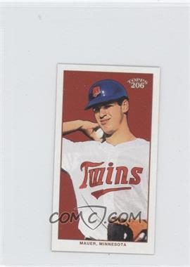 2002 Topps 206 Mini Black Polar Bear Back #400 - Joe Mauer