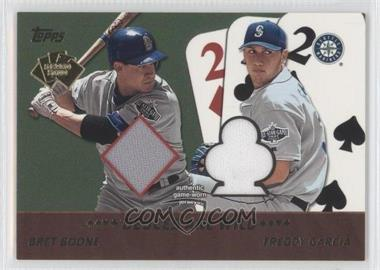 2002 Topps 5 Card Stud Relics Deuces are Wild #5D-BG - Bret Boone, Freddy Garcia