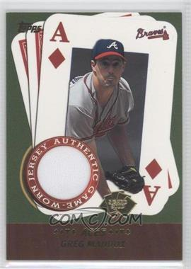 2002 Topps 5 Card Stud Relics #5A-GM - Greg Maddux