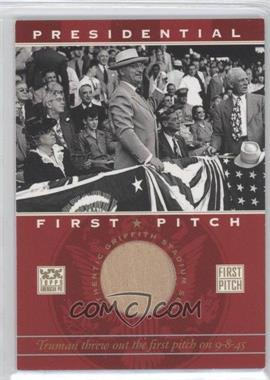 2002 Topps American Pie Presidential First Pitch Relics #PFPR-HT - Harry S. Truman
