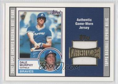 2002 Topps Archives Reprint Relics #TUR-DM - Dale Murphy