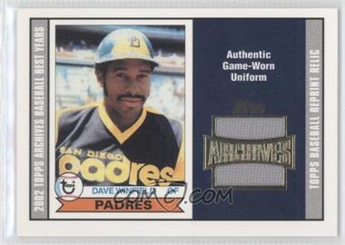 2002 Topps Archives Reprint Relics #TUR-DW - Dave Winfield