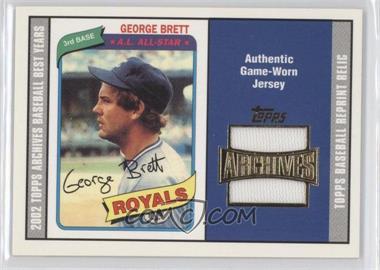 2002 Topps Archives Reprint Relics #TUR-GBB - George Brett