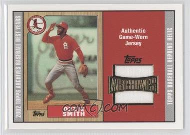 2002 Topps Archives Reprint Relics #TUR-OS - Ozzie Smith