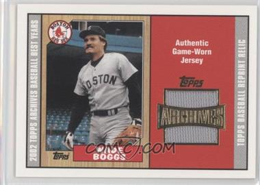 2002 Topps Archives Reprint Relics #TUR-WB - Wade Boggs