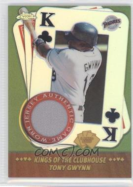2002 Topps Chrome - 5 Card Stud Kings of the Clubhouse #5KC-TG - Tony Gwynn