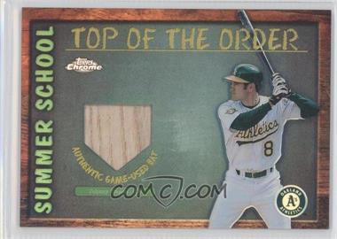 2002 Topps Chrome - Summer School Top of the Order - Refractor #TOC-JD - Johnny Damon