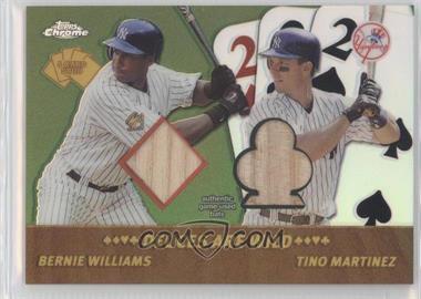 2002 Topps Chrome 5 Card Stud Dueces Wild #5DC-BT - Bernie Williams, Tino Martinez