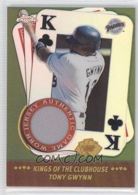 2002 Topps Chrome 5 Card Stud Kings of the Clubhouse #5KC-TG - Tony Gwynn