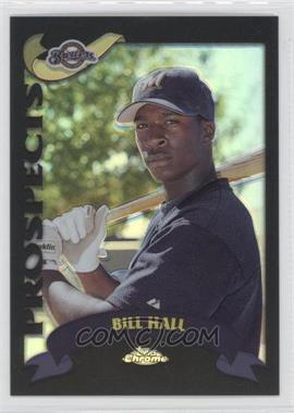 2002 Topps Chrome Black Refractor #676 - Bill Hall /50