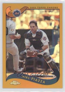 2002 Topps Chrome Gold Refractor #490 - Mike Piazza