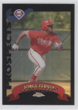 2002 Topps Chrome Traded & Rookies Black Refractor #T235 - Jorge Padilla /100