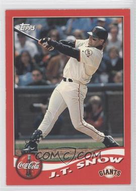 2002 Topps Coca-Cola San Francisco Giants #3 - J.T. Snow