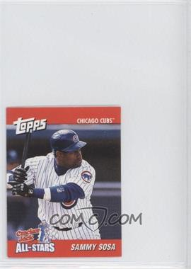 2002 Topps Cracker Jack All-Stars Food Issue [Base] #22 - Sammy Sosa