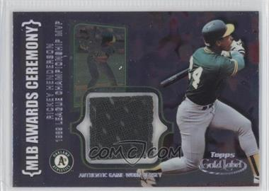 2002 Topps Gold Label MLB Award Ceremony Relic Class 2 Platinum #ACR-RH - Rickey Henderson
