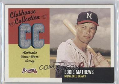 2002 Topps Heritage Clubhouse Collection Relics #CC-EM - Eddie Mathews