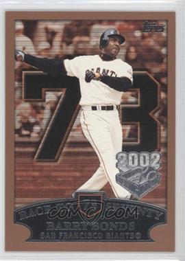 2002 Topps Opening Day - [Base] #73 - Barry Bonds