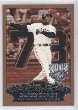 2002 Topps Opening Day #73 - Barry Bonds