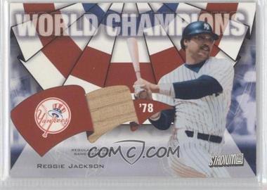 2002 Topps Stadium Club World Champions Relics #WC-RJ - Reggie Jackson