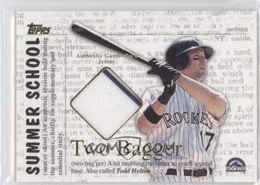 2002 Topps Summer School Relics Two Bagger #2B-TH - Todd Helton