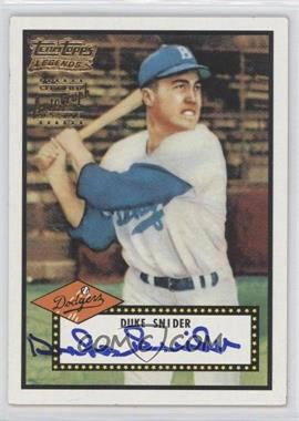 2002 Topps Team Topps Legends Autographs #TT-DS - Duke Snider
