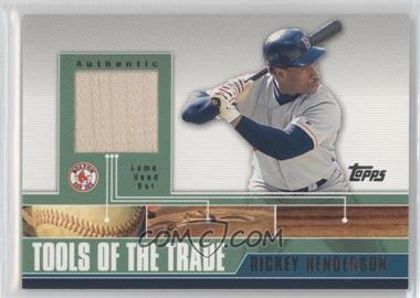 2002 Topps Traded Tools of the Trade Relics #TTRR-RHB - Rickey Henderson