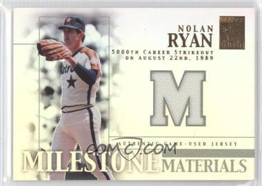 2002 Topps Tribute - Milestone Materials #MIM-NR - Nolan Ryan