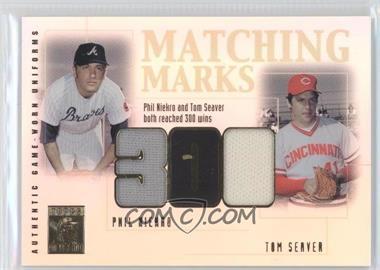 2002 Topps Tribute Matching Marks #MM-NS - Phil Niekro, Tom Seaver