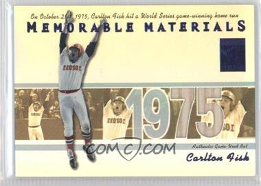 2002 Topps Tribute Memorable Materials Blue #MEM-CF - Carlton Fisk /75