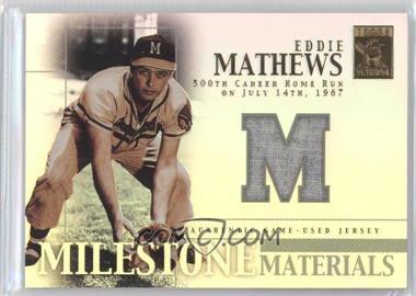 2002 Topps Tribute Milestone Materials #MIM-EM - Eddie Mathews