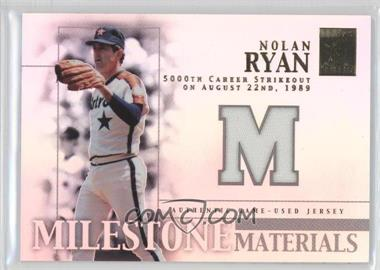2002 Topps Tribute Milestone Materials #MIM-NR - Nolan Ryan