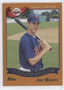 2002 Topps #622 - Joe Mauer