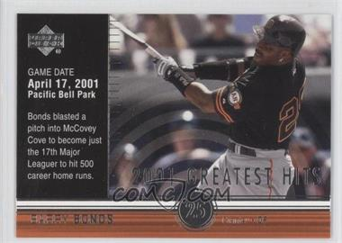 2002 Upper Deck - 2001's Greatest Hits #GH1 - Barry Bonds