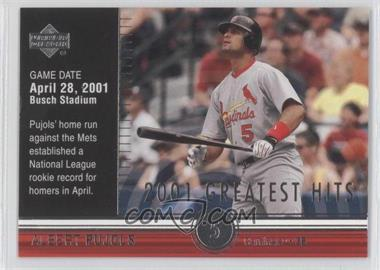 2002 Upper Deck - 2001's Greatest Hits #GH3 - Albert Pujols