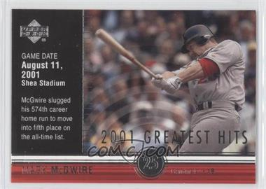 2002 Upper Deck - 2001's Greatest Hits #GH6 - Mark McGwire