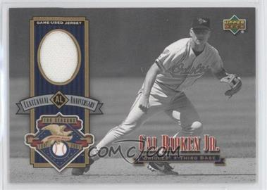 2002 Upper Deck - AL Centennial Jerseys #ALJ-CR - Cal Ripken Jr.