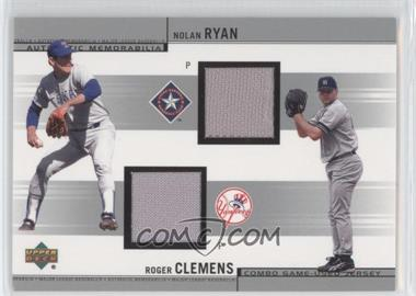 2002 Upper Deck - Combo Game-Used Jerseys #CJ-RC - Nolan Ryan, Roger Clemens