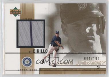 2002 Upper Deck - Game-Used Jerseys - Gold #JC - Jeff Cirillo /100