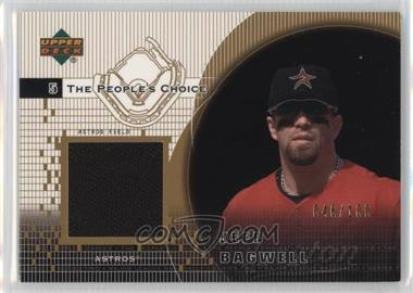 2002 Upper Deck - The People's Choice Jerseys - Gold #PJ-JBA - Jeff Bagwell /100