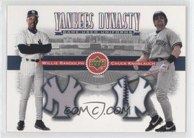 2002 Upper Deck - Yankees Dynasty Game-Used Materials Combos #YJ-RK - Willie Randolph, Chuck Knoblauch