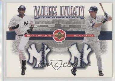 2002 Upper Deck - Yankees Dynasty Game-Used Materials Combos #YJ-WO - Bernie Williams, Paul O'Neill