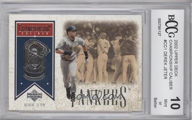 2002 Upper Deck [???] #CC1 - Derek Jeter [ENCASED]
