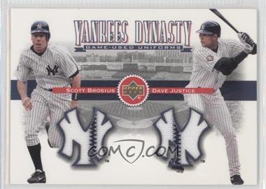 2002 Upper Deck [???] #YJ-BJ - Scott Brosius, David Justice