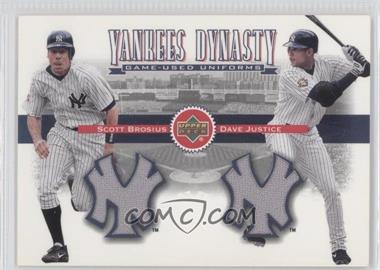 2002 Upper Deck [???] #YJ-BJ - Scott Brosius, David Justice