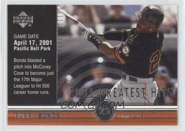 2002 Upper Deck 2001's Greatest Hits #GH1 - Barry Bonds